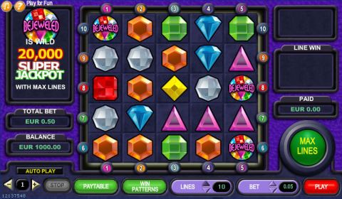 Bejeweled Fun Slots by IN DOUBT with 0 Reel and 10 Line