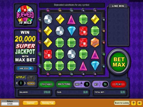 Bejeweled Fun Slots by NeoGames with 0 Reel and 10 Line