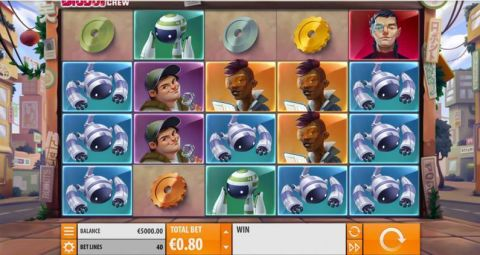 Big Bot Crew Fun Slots by Quickspin with 5 Reel and 40 Line