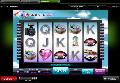 Big Brother Fun Slots by 888 with 5 Reel and 25 Line