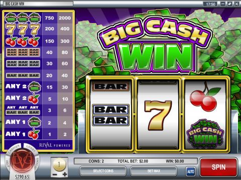 Big Cash Win Fun Slots by Rival with 3 Reel and 1 Line