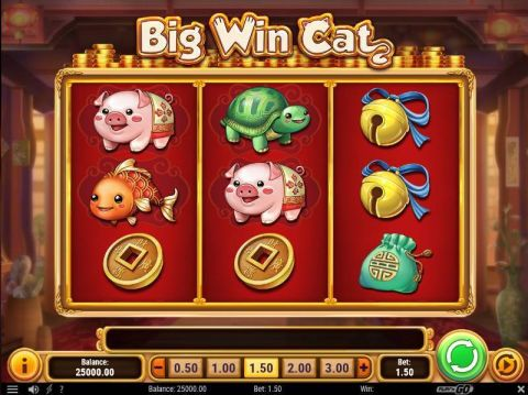 Big Win Cat Fun Slots by Play'n GO with 3 Reel and 5 Line