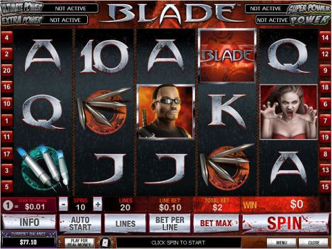 Blade Fun Slots by PlayTech with 5 Reel and 20 Line