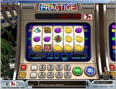 Bonus Madness 5 Line Fun Slots by Boss Media with 5 Reel and 5 Line