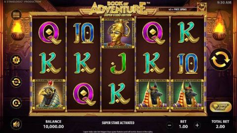 Book of Adventure: Super Stake Edition Fun Slots by StakeLogic with 5 Reel and 10 Line
