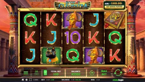 Book of Cleopatra Fun Slots by StakeLogic with 5 Reel and 10 Line