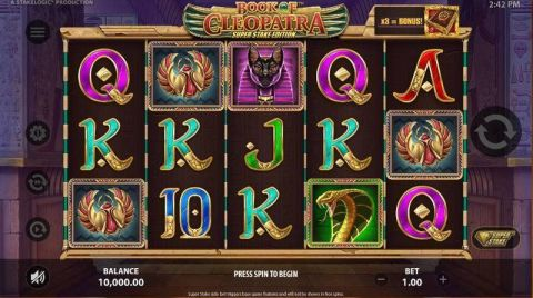 Book of Cleopatra Super Stake Edition Fun Slots by StakeLogic with 5 Reel and 10 Line
