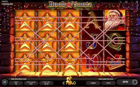Book of Santa Fun Slots by Endorphina with 5 Reel and 10 Line