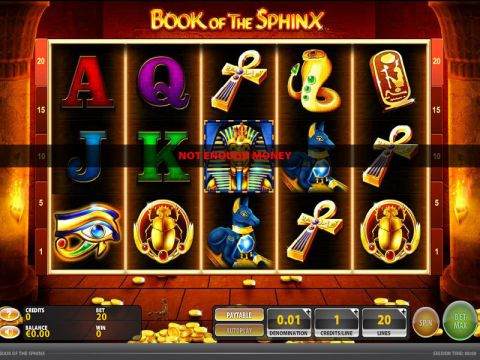 Book of the Sphinx Fun Slots by GTECH with 5 Reel and 20 Line