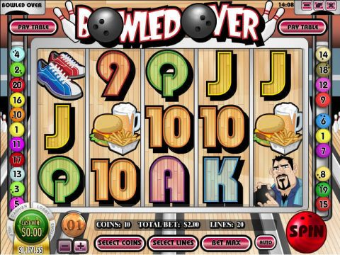Bowled Over Fun Slots by Rival with 5 Reel and 20 Line
