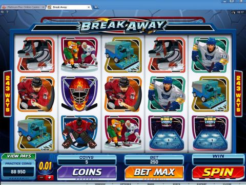 Break Away Fun Slots by Microgaming with 5 Reel and 243 Line