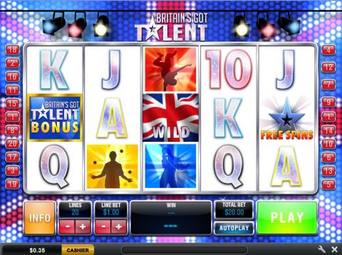Britain's Got Talent Fun Slots by Ash Gaming with 5 Reel and 20 Line