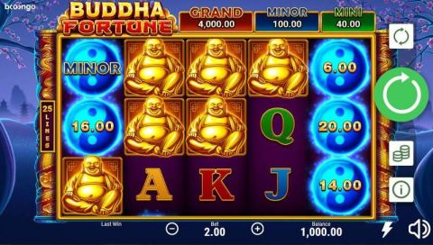 Buddha Fortune Fun Slots by Booongo with 5 Reel and 25 Line