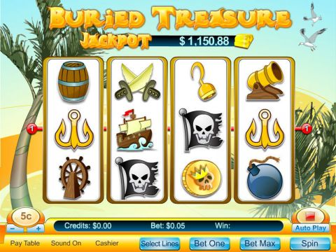 Buried Treasure Fun Slots by Byworth with 5 Reel and 5 Line
