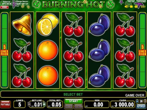 Burning Hot Fun Slots by EGT with 5 Reel and 5 Line