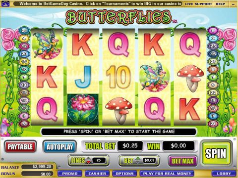 Butterflies Fun Slots by WGS Technology with 5 Reel and 25 Line
