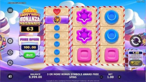 Candyways Bonanza Megaways Fun Slots by StakeLogic with 3 Reel and 512 Ways