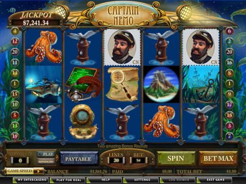 Captain Nemo Fun Slots by Amaya with 5 Reel and 20 Line