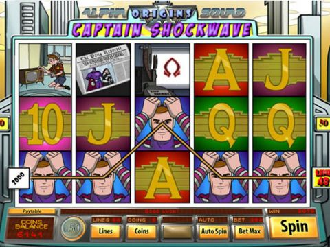 Captain Shockwave Fun Slots by Saucify with 5 Reel and 50 Line
