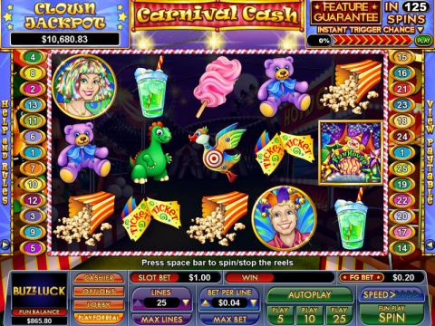 Carnival Cash Fun Slots by NuWorks with 5 Reel and 25 Line