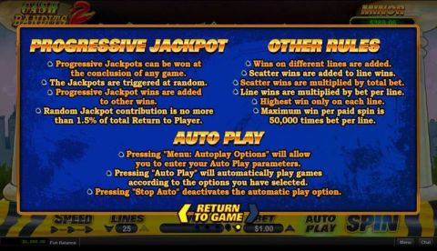 Cash Bandit 2 Fun Slots by RTG with 5 Reel and 25 Line