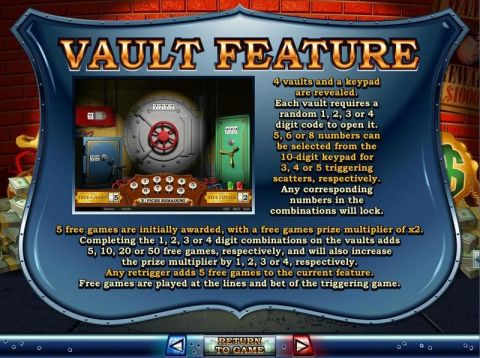 Cash Bandits Fun Slots by RTG with 5 Reel and 25 Line