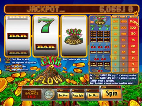 Cash Flow Fun Slots by Saucify with 3 Reel and 1 Line