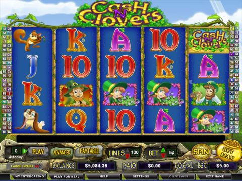 Cash N' Clovers Fun Slots by Amaya with 5 Reel and 100 Line