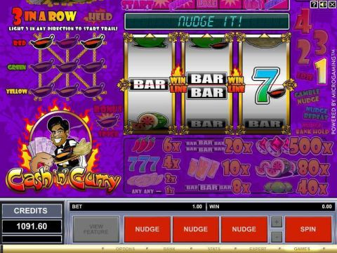Cash 'n' Curry Fun Slots by Microgaming with 3 Reel and 1 Line