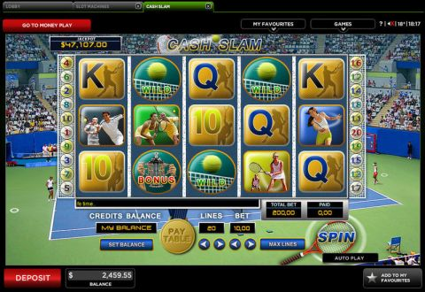 Cash Slam Fun Slots by 888 with 5 Reel and 20 Line