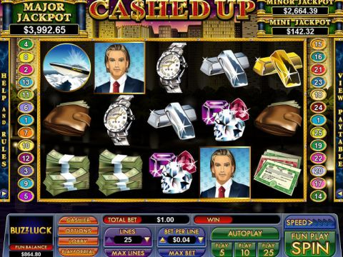 Cashed Up Fun Slots by NuWorks with 5 Reel and 25 Line