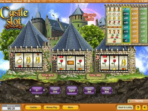 Castle Fun Slots by NeoGames with 3 Reel and 1 Line