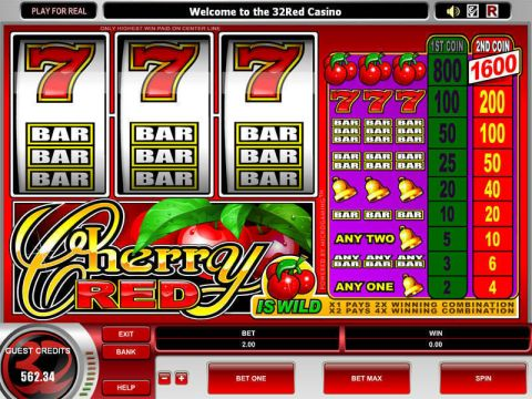 Cherry Red Fun Slots by Microgaming with 3 Reel and 1 Line