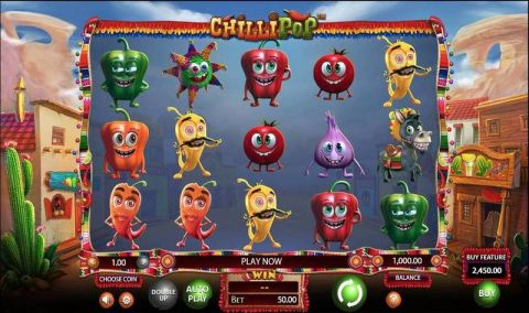 Chillipop Fun Slots by BetSoft with 5 Reel and 50 Line