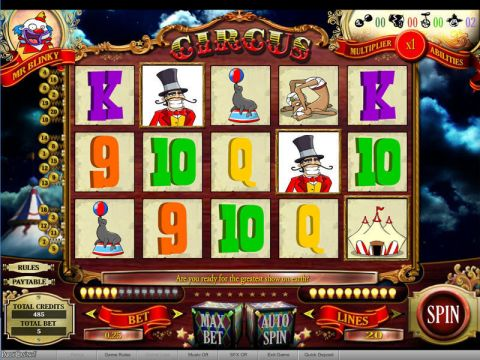 Circus Fun Slots by bwin.party with 5 Reel and 20 Line