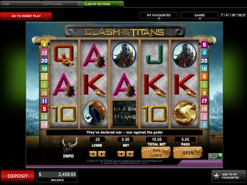 Clash of the Titans Fun Slots by 888 with 5 Reel and 20 Line