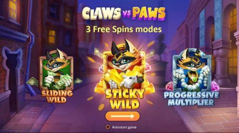 Claws vs Paws Fun Slots by Playson with 5 Reel and 20 Line