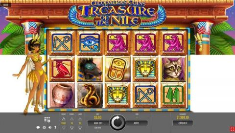 Cleopatra's Coins: Treasure of the Nile Fun Slots by Rival with 5 Reel and 50 Line