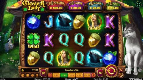 Clover Lady Fun Slots by Wazdan with 6 Reel and 10 Line