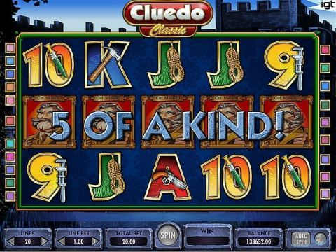 Cluedo Fun Slots by IGT with 5 Reel and 15 Line