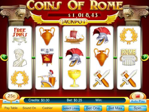 Coins Of Rome Fun Slots by Byworth with 5 Reel and 5 Line