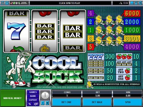 Cool Buck Fun Slots by Microgaming with 3 Reel and 5 Line