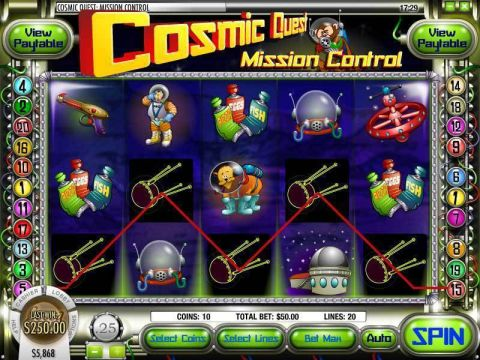 Cosmic Quest Episode One Fun Slots by Rival with 5 Reel and 20 Line
