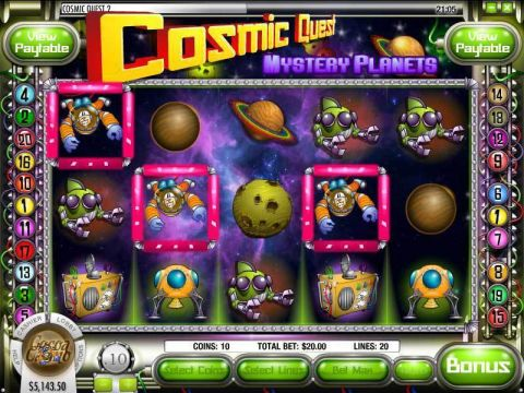 Cosmic Quest Episode Two Fun Slots by Rival with 5 Reel and 20 Line