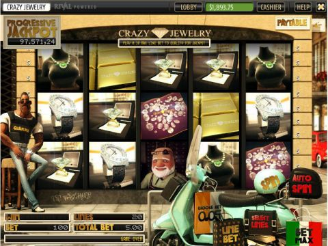 Crazy Jewelry Fun Slots by Sheriff Gaming with 5 Reel and 20 Line