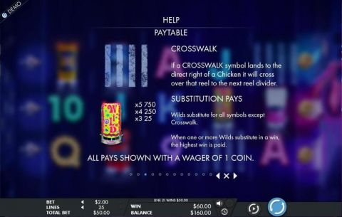 Crosstown Chicken Fun Slots by Genesis with 5 Reel and 25 Line