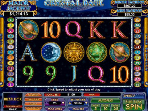 Crystal Ball Fun Slots by NuWorks with 5 Reel and 25 Line