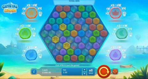 Crystal Crush Fun Slots by Playson with 5 Reel and