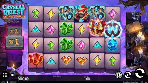 Crystal Quest: ArcaneTower Fun Slots by Thunderkick with 6 Reel and 4096 Line