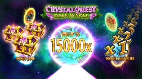 Crystal Quest Deep Jungle Fun Slots by Thunderkick with 6 Reel and 4096 Line